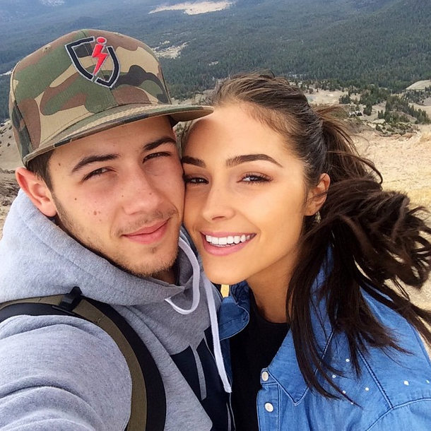 Nick Jonas with girlfriend Olivia Culpo