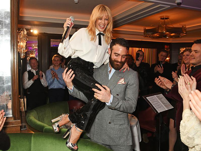 Kylie Minogue has kicked fiancé Joshua Sasse out
