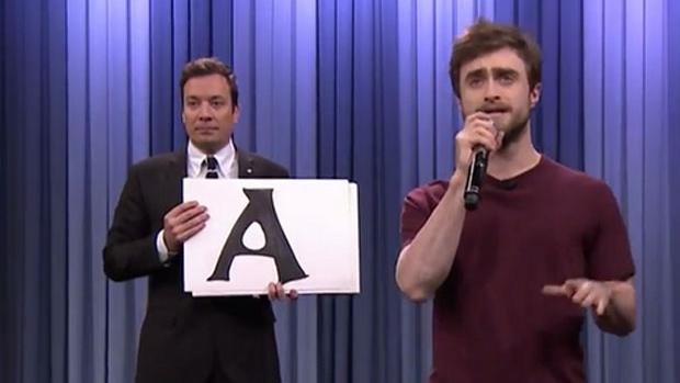 Daniel Radcliffe rapped on the Tonight Show with Jimmy Fallon