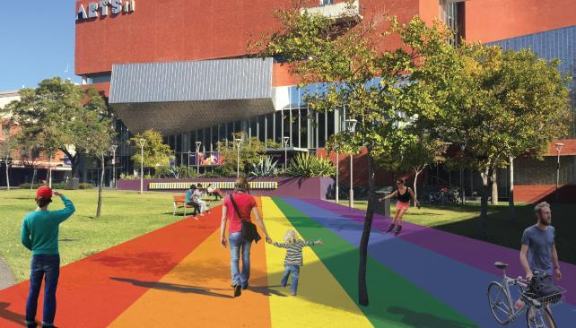 Council rejected a cheaper version of $86,000 rainbow walk | FIVEaa
