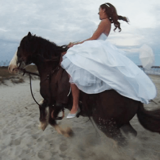 Bride gets thrown from a horse on her wedding day