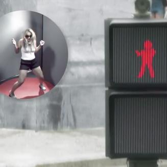 Dancing traffic light idea helps road safety prevents jaywalking