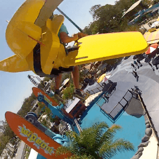 Ash, Kip & Luttsy test ride the new Tail Spin ride at Dreamworld on the Gold Coast