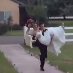 Bride dropped by Groom on wedding day