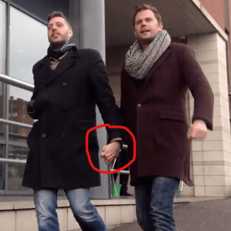 Holding hands experiment homophobia