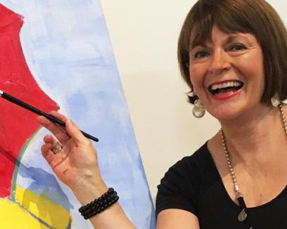 Jane Reilly is hoping her art masterpiece will go for millions | FIVEaa