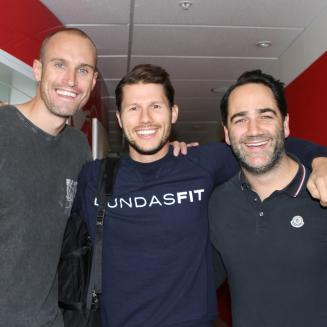 Jason Dundas and Fitzy and Wippa compete for the title of best VJ