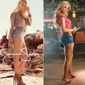 Jessica Simpson is back in her Daisy Dukes