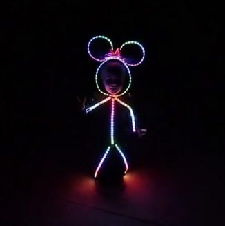 LED Minni Mouse costume is perfect for Halloween