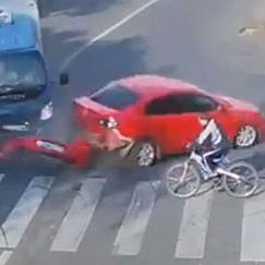 Luckiest cyclist in the world?