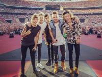One Direction on stage at Wembley, London