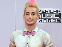 Ariana's brother, Frankie Grande goes topless on the AMA red carpet