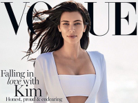 Kim Kardashian on cover of Vogue Australia February