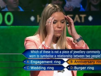 Game show fail Burger ring hot seat