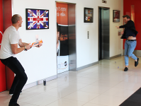 Fitzy and Wippa ambush Olly Murs with nerf guns