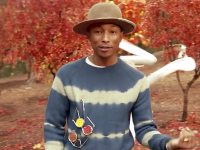 "Still from Pharrell and Daft Punk's ""Gust of Wind"" music video"