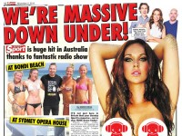Kate, Tim & Marty made the headlines in The Sunday Sport