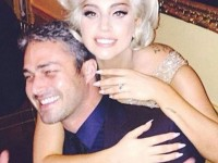 Lady Gaga and Taylor Kinney LOOKING HAPPY