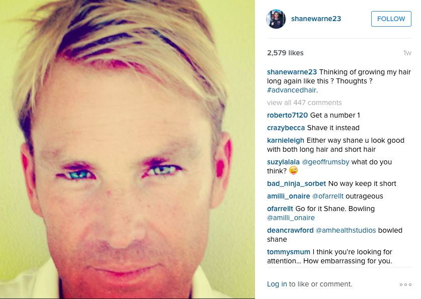 Shane Warne teases fans with Instagram post