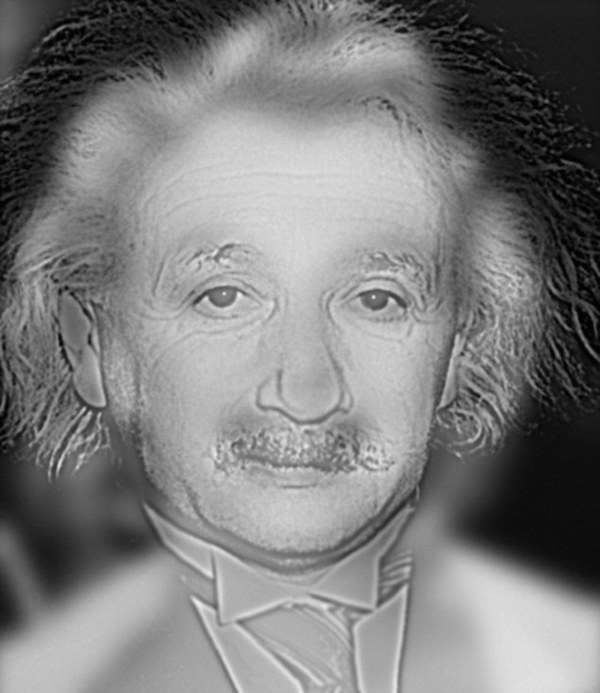 Albert Einstein gif that can determine if you need glasses or not.