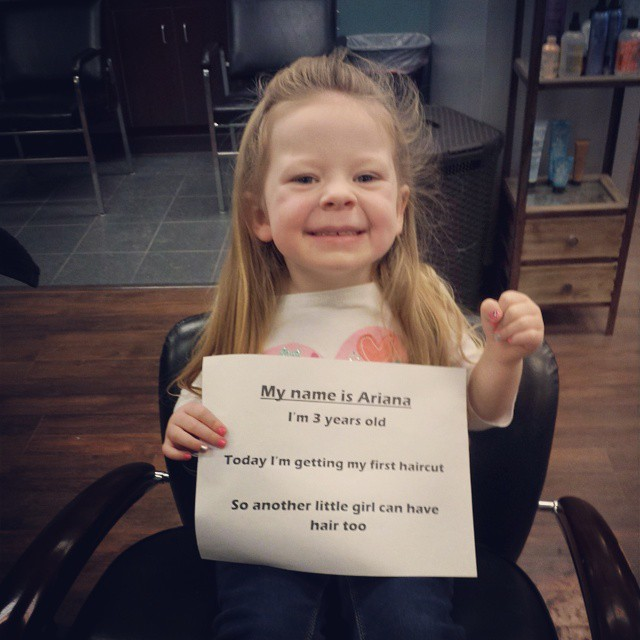 Cute Little Girl Gets First Haircut For Cancer Patients Smooth