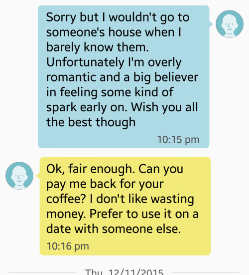 You won't believe how this guy responded when he was rejected